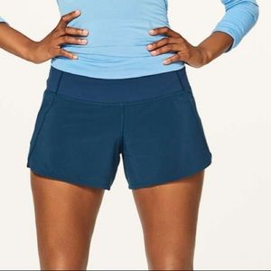 Lululemon Run Times II Night Tide Blue Shorts